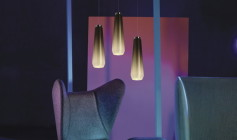 diesel with foscarini glass drop chrom lampa wisząca