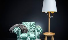 bucket floor lamp and labyrinth chair moooi lampa podłogowa i fotel